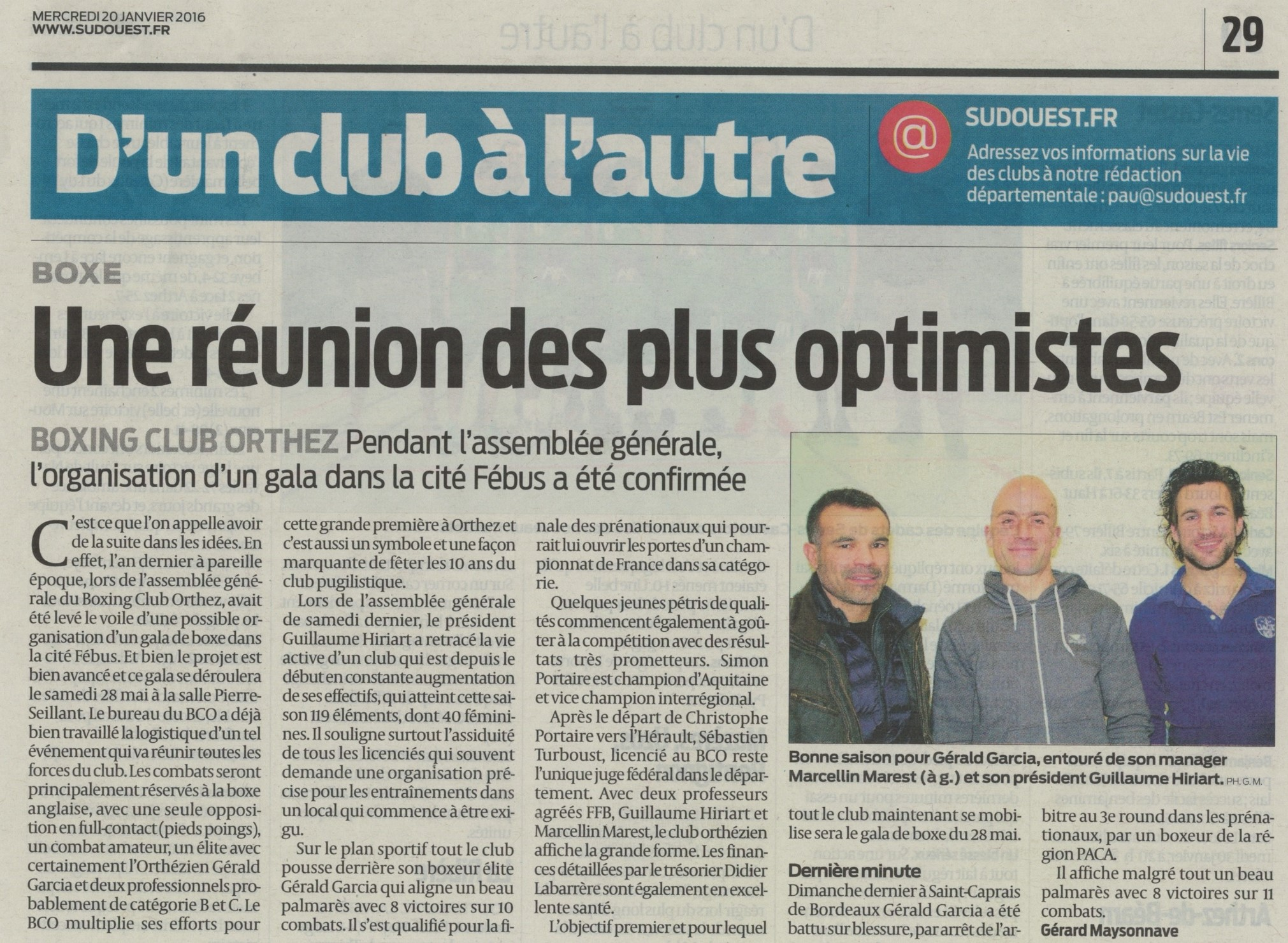 Sud Ouest AG 2016